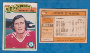 Nottingham Forest John O`Hare Scotland 358